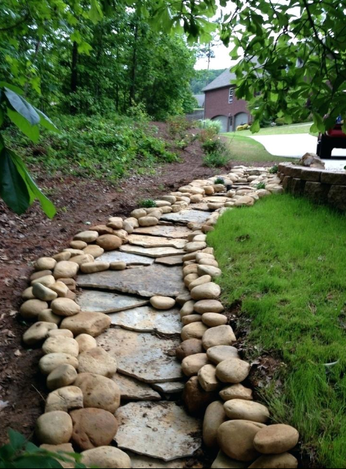 dry creek bed for drainage 2