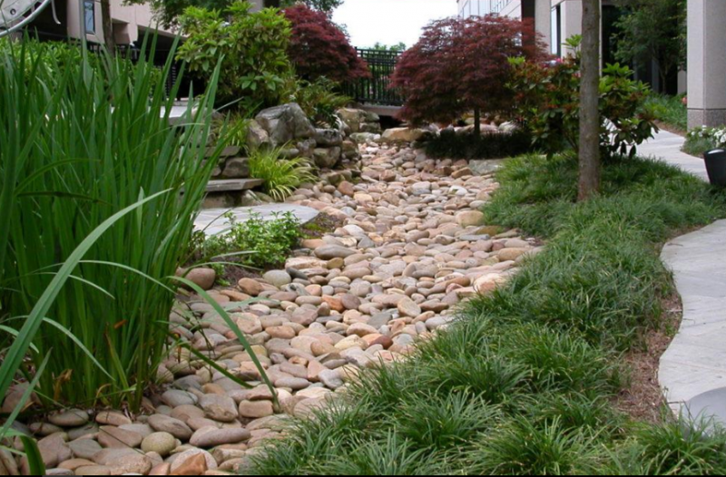 dry river bed landscaping 5 - 75+ Dry Creek Bed Landscaping Ideas For Your Beautiful Yard - Home