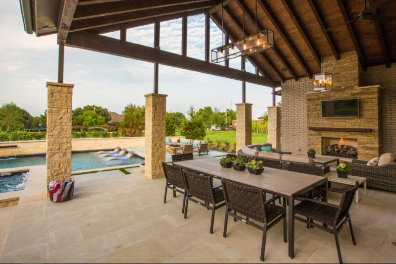 little horn residence traditional patio dallas
