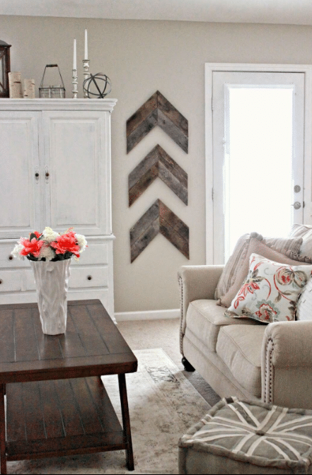 Barnwood Chevron Accent Wall Decor