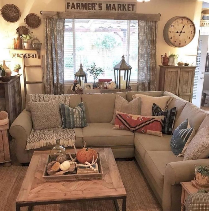 135 Best Farmhouse Living Room Decor Ideas For 2018