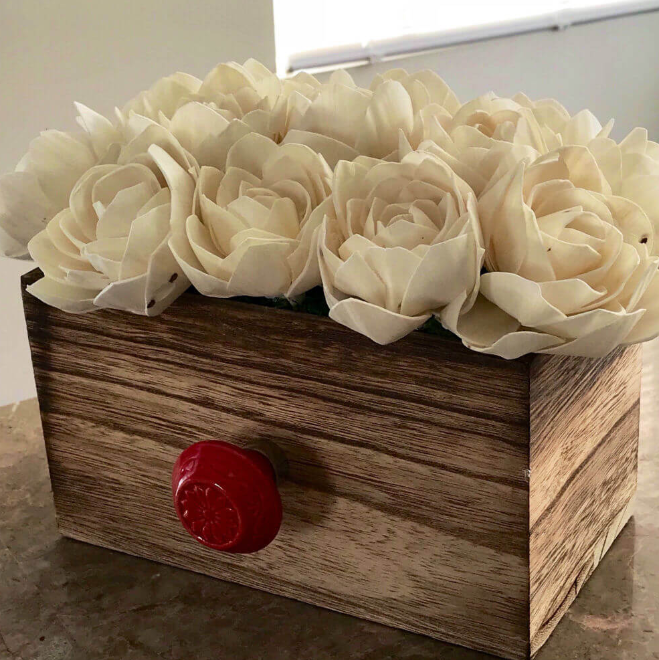 Floral Farmhouse Drawer Centerpiece