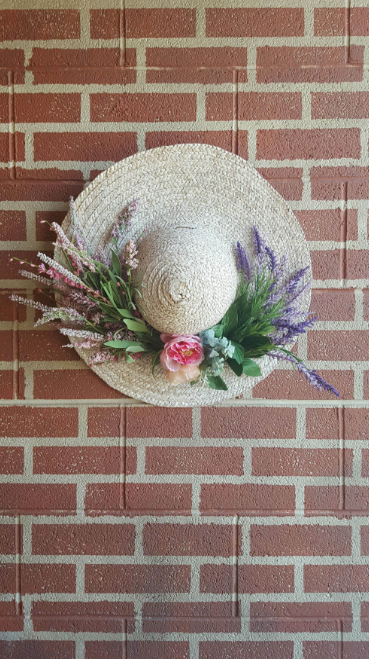 Shabby Chic Floral Hanging Garden Hat