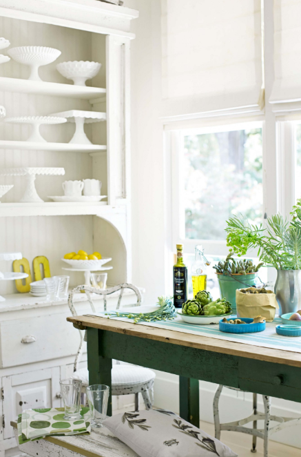 Vintage Kitchen - Bright and Beautiful White on White