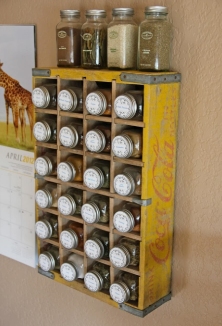 Vintage Kitchen - Clever Soda Crate Spice Rack