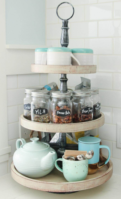 Vintage Kitchen - Three Tiers for Tea Caddies