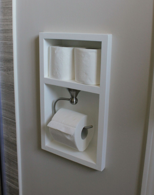 Bathroom Storage Ideas - A Shadow Box for Toilet Paper
