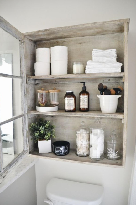 Bathroom Storage Ideas - Floating Display Cases