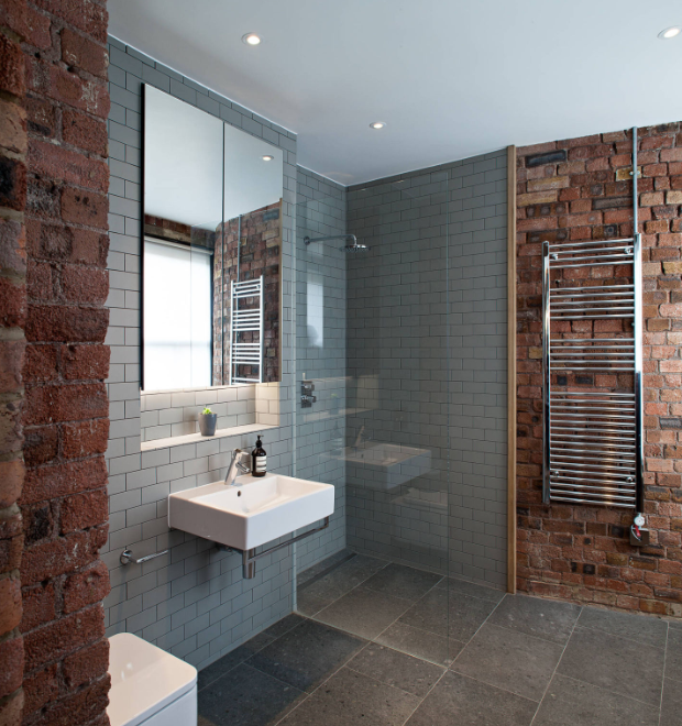 Brick Townhouse Wet Room Design