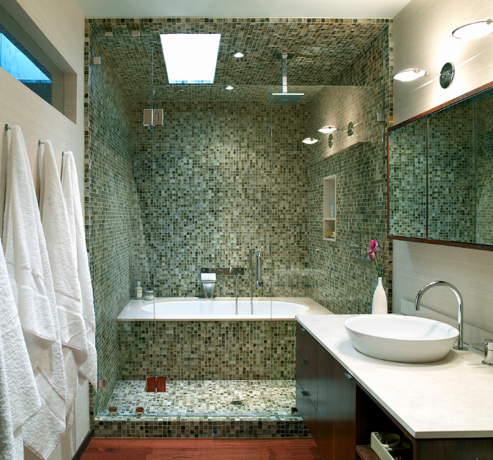 Emerald Mosaic Wet Room Design