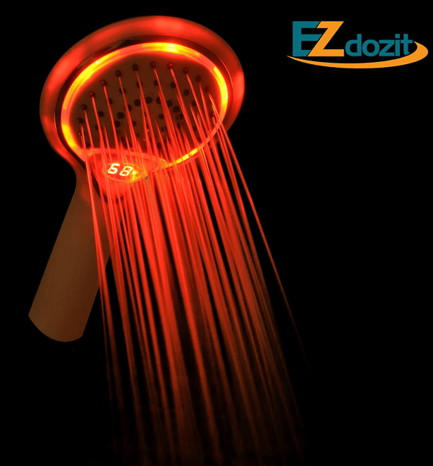 Ezdozit Shower Head With 3-Color LED Lighting