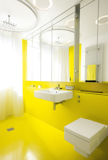 Get Yellow Wet Room Design