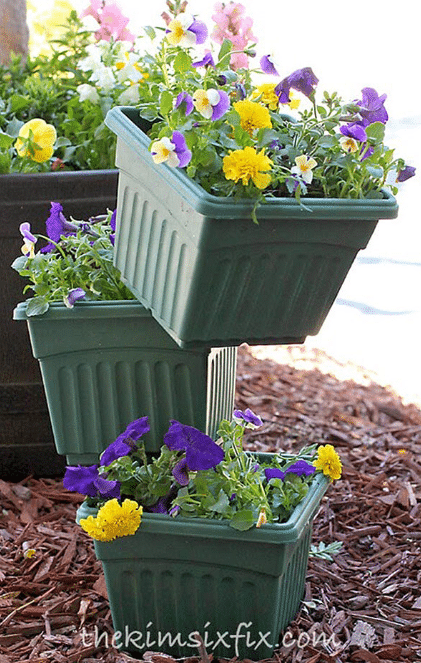 Balanced Planters Flower Tower
