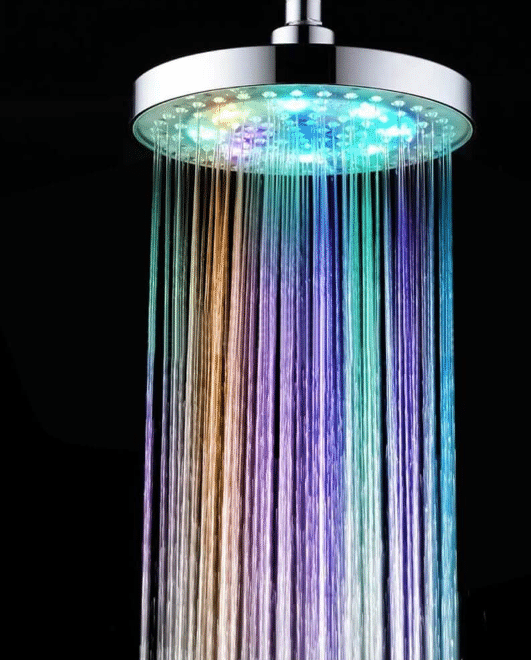 INLIFE Color-Changing LED Light Shower Head