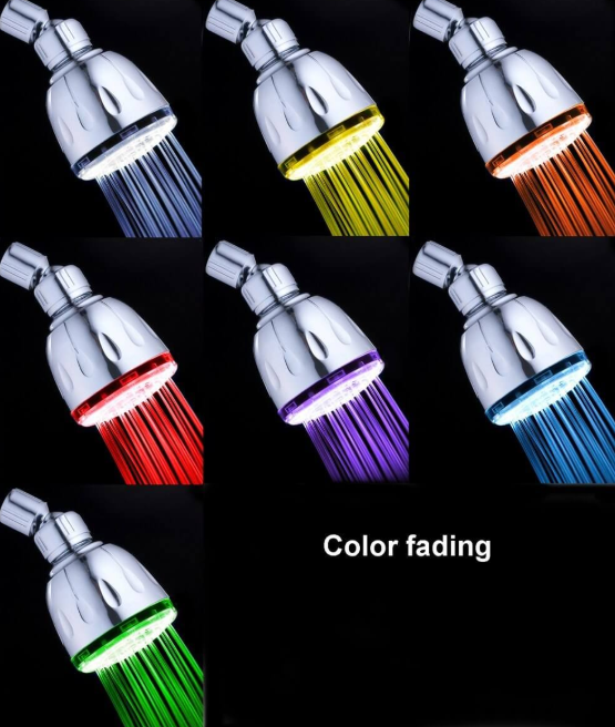 Magic Shower head With Jet Spray and 7-LED Light Color Show
