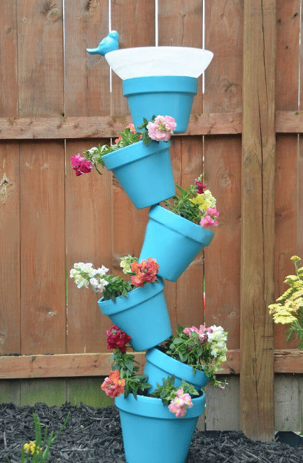 Simple and Sweet Birdbath Tower