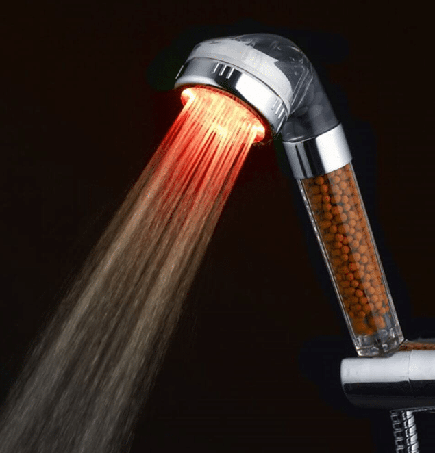 WYQN Shower Head With Temperature Controlled LED Lighting and Anion Magnets
