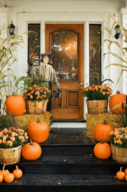 Fall Front Door Decor Ideas 3