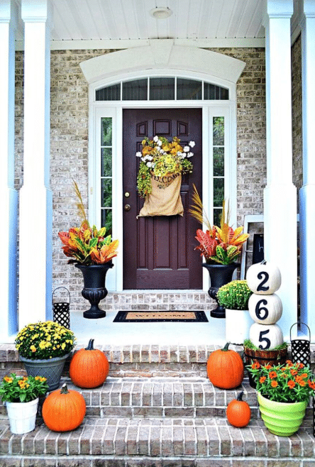 Fall Front Door Decor Ideas 4