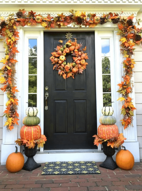 Fall Front Door Decor Ideas 8
