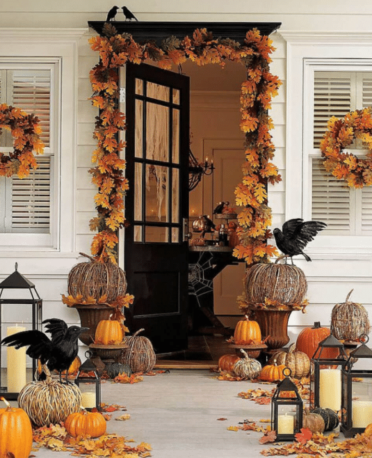 Fall Front Door Decor Ideas 1