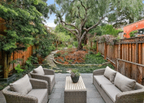 Tiered Fence - privacy wall ideas