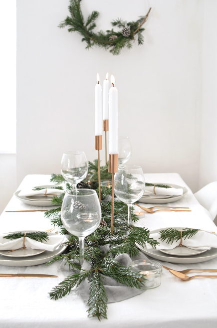 An Arrangement of Pure and Simple Elegance - Christmas Table Decoration