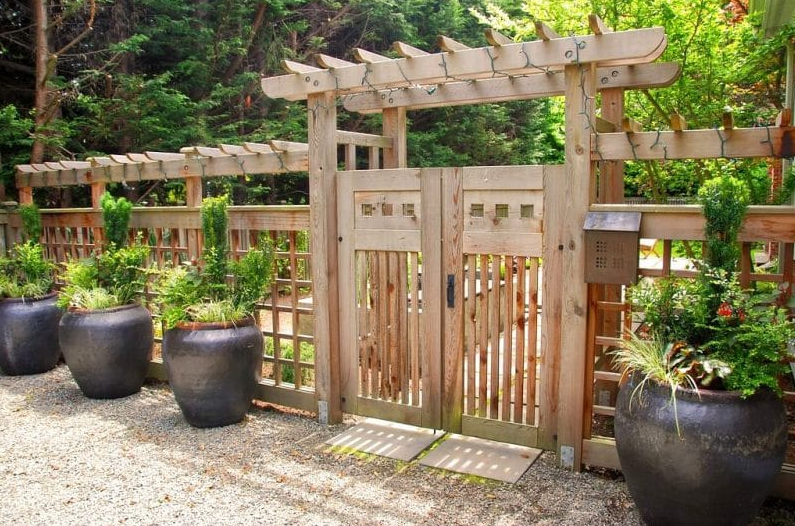 Japanese Inspirations - flower garden gate ideas