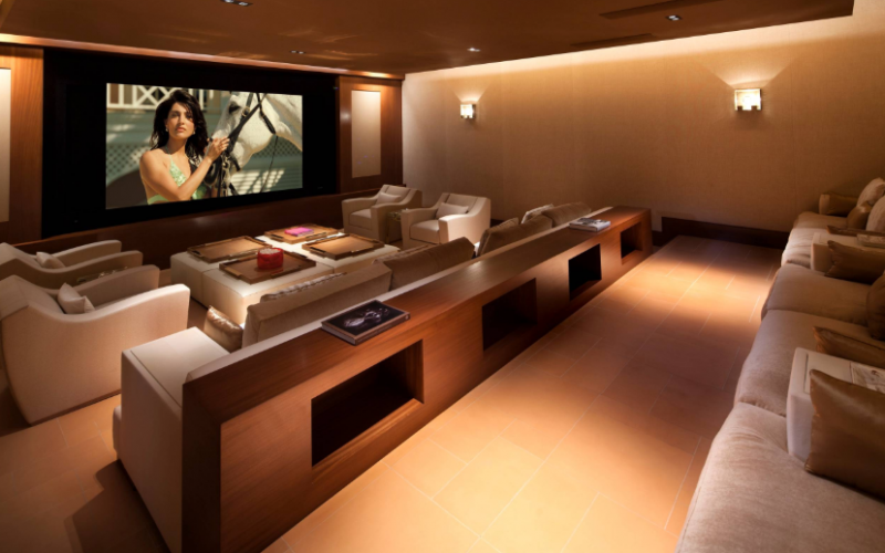 Luxury Mid-Century Home Theater Design