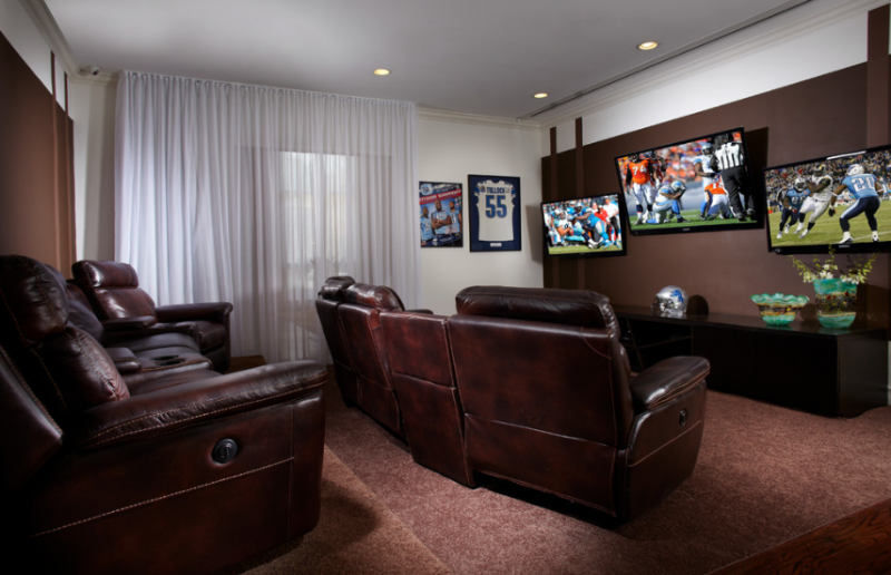 Man Cave Home Theater Design