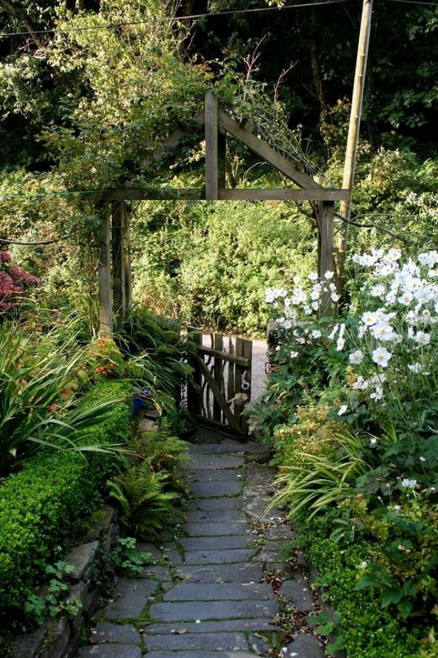 Weathered Arbor - flower garden gate ideas