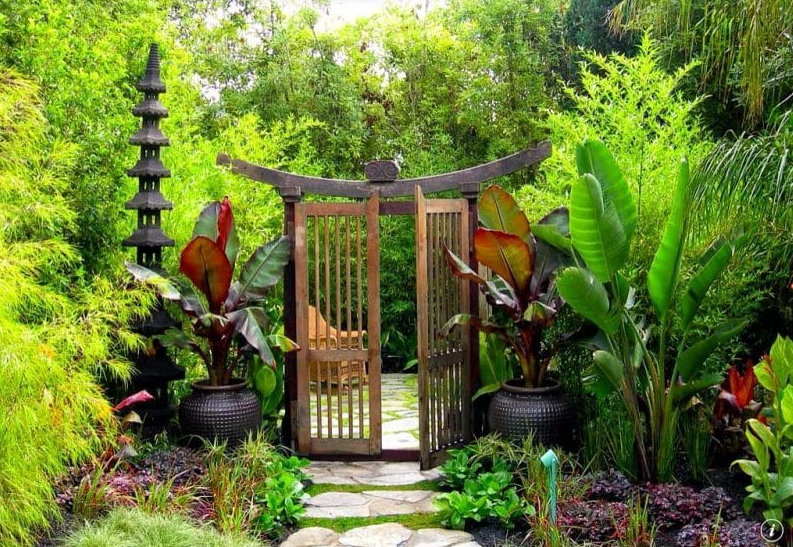 flower garden gate ideas - Japanese Pagoda