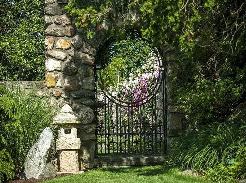 flower garden gate ideas - Mortared Arch