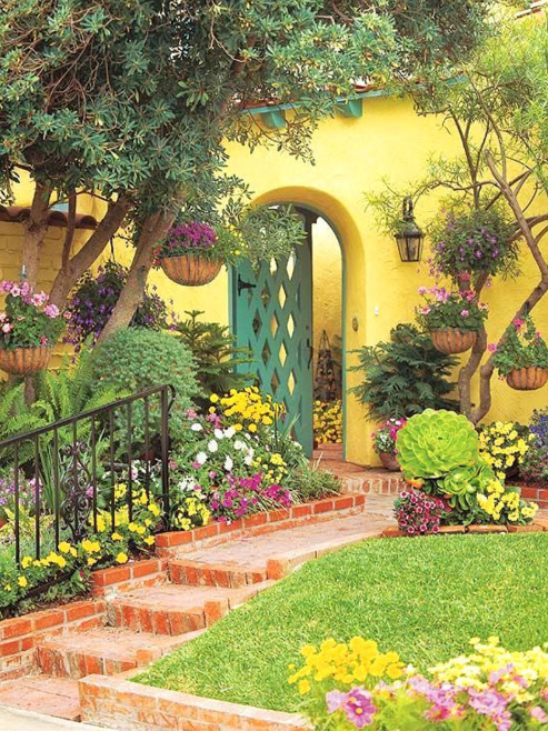 flower garden gate ideas - Yellow Adobe