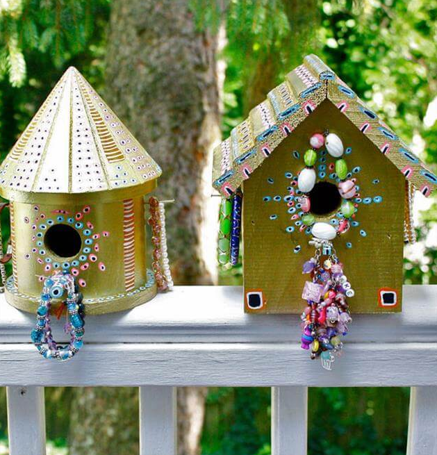 Birdhouse Jewelry Holder