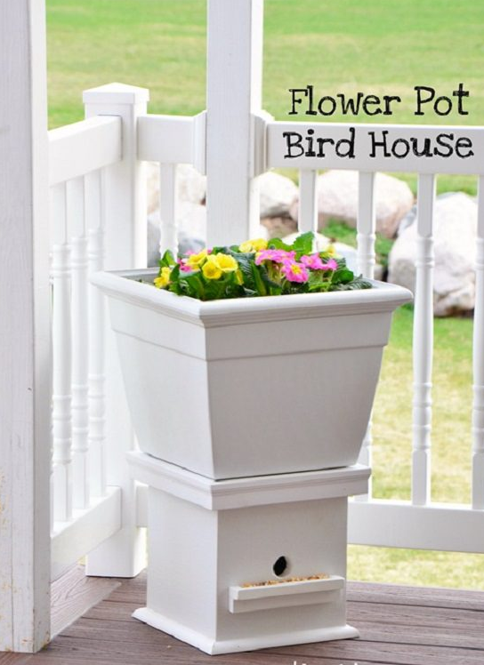 Flower Pot Birdhouse