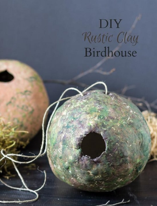 Rustic Clay Birdhouse
