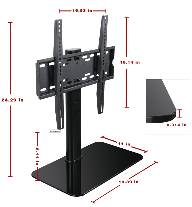 Strong Universal TV Table Riser,TV Stand,TV Mount Stand