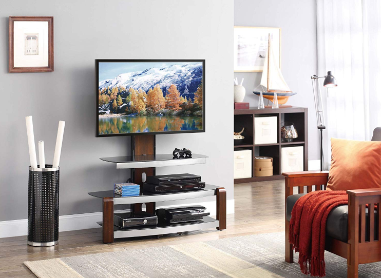 Whalen Furniture Flat Panel TV Stand and Entertainment Console