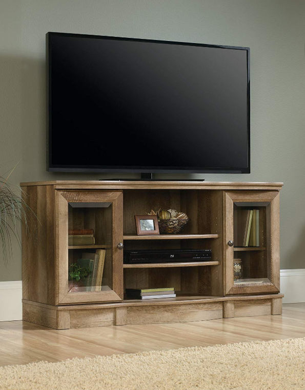 Wooden Tv Stands - Sauder Regent Place TV Stand In Craftsman Oak