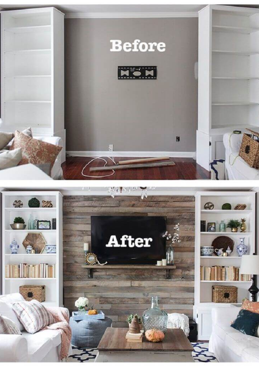 25 Before and After Budget Friendly Living Room Makeover Ideas 19