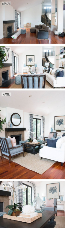 25 Before and After Budget Friendly Living Room Makeover Ideas 21