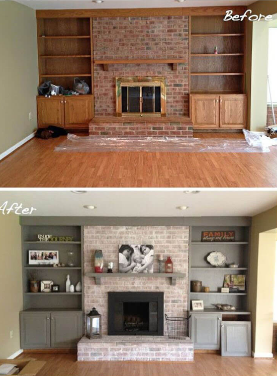 25 Before and After Budget Friendly Living Room Makeover Ideas 3