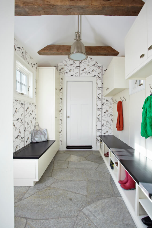 Cheerful Wallpaper for Mudroom ideas