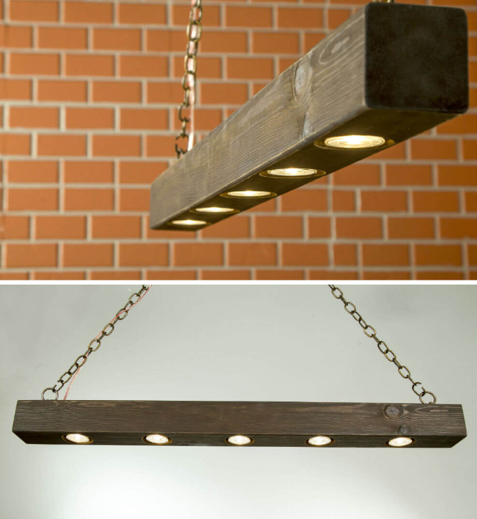 Hand Distressed Beam Sheds Elegant Light