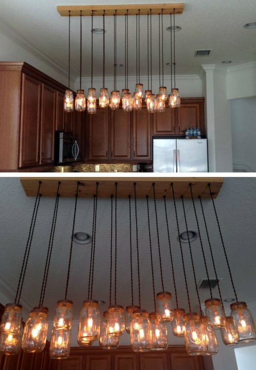 Make Your Own Mason Jar Chandelier