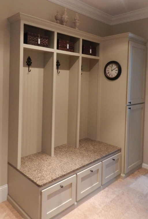 Marble Bench Mudroom Ideas