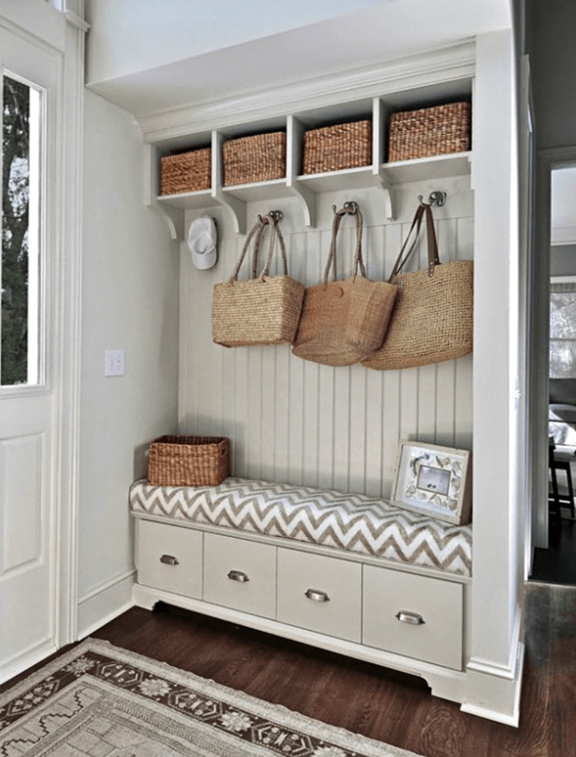 Mudroom Rattan Accents