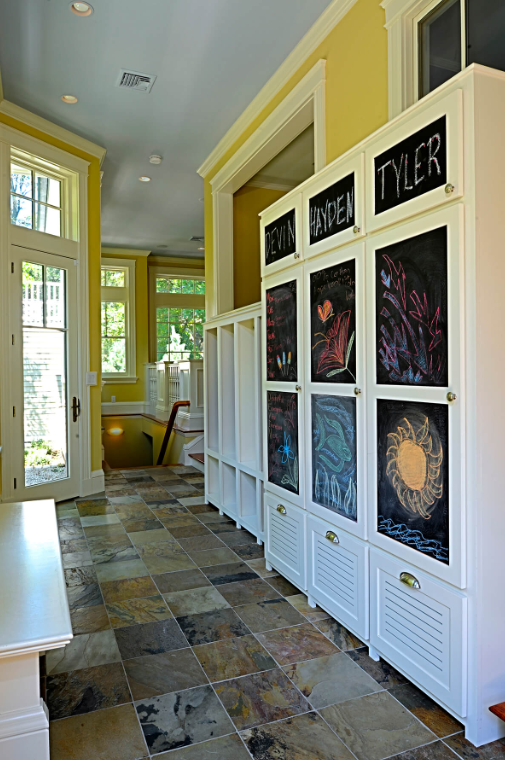 Tile Floor And Personalized Closets
