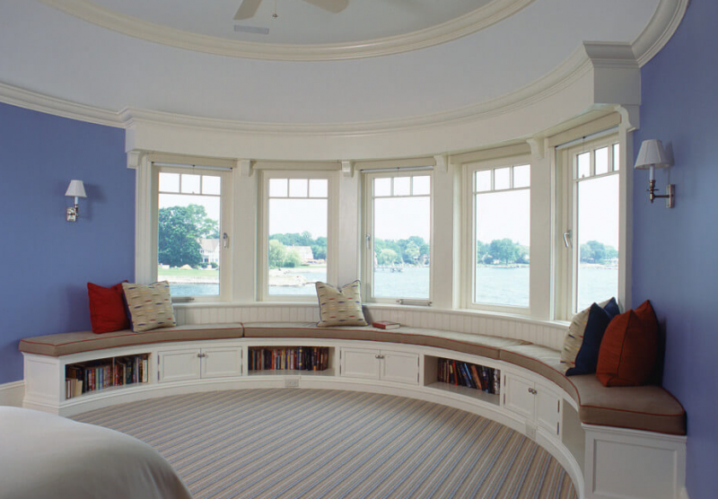 Waterfront Shingle Bay Window Ideas